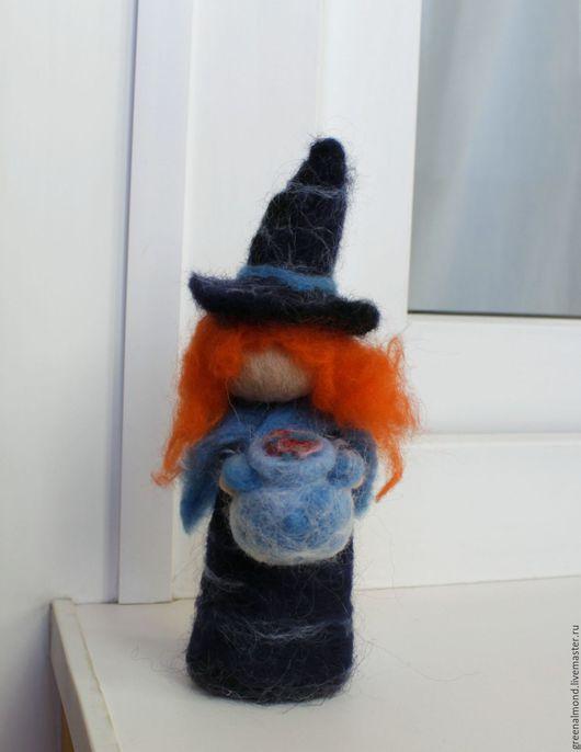 Подарки на Хэллоуин ручной работы. Ярмарка Мастеров - ручная работа. Купить Колдунья. Handmade. Тёмно-фиолетовый, ведьмочка, кукла, колдунья