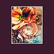 Картины и панно handmade. Livemaster - original item Painting flowers. Handmade.