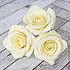 Заколки ручной работы. Шпильки с розами (крупные) - Айвори кремовый. Tanya Flower. Ярмарка Мастеров. Украшения с цветами, заколка с цветами