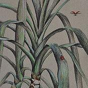 """Картины и панно ручной работы. Ярмарка Мастеров - ручная работа Картина """"Юкка"""".. Handmade."""