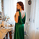 Платья ручной работы. Зеленое вечернее платье в пол. Ксения Gleamnight. Ярмарка Мастеров. Зеленое платье в пол