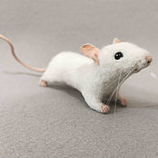 handmade. Livemaster - original item Mouse white. Handmade.