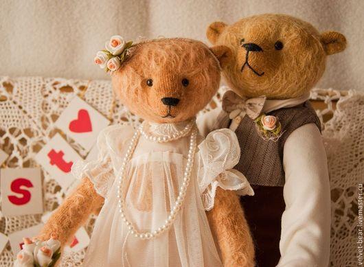 Мишки Тедди ручной работы. Ярмарка Мастеров - ручная работа. Купить JUST MARRIED. Handmade. Медведи тедди, антик, кружево