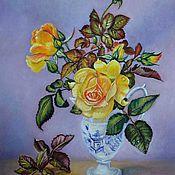 Картины и панно ручной работы. Ярмарка Мастеров - ручная работа Натюрморт с цветами (вольная копия). Handmade.