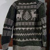 """Пуловеры ручной работы. Ярмарка Мастеров - ручная работа Свитер с орнаментом """"олени"""" натуральная шерсть. Handmade."""