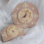 """Часы классические ручной работы. Ярмарка Мастеров - ручная работа Часики """"Зима менестреля"""". Handmade."""