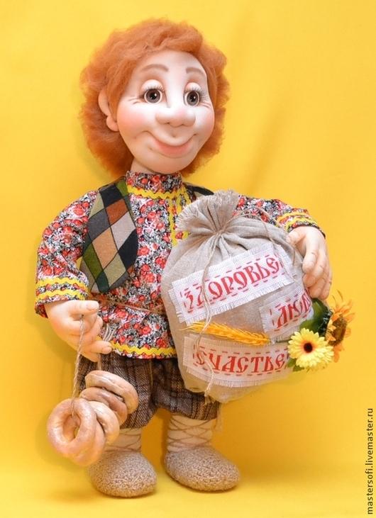Сказочные персонажи ручной работы. Ярмарка Мастеров - ручная работа. Купить Домовой Митяй. Кукла в технике  скульптурный текстиль. Handmade.
