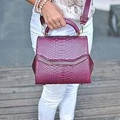 Сумки и аксессуары handmade. Livemaster - original item Gummi Python leather handbag. Handmade.