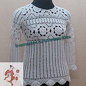 Одежда handmade. Livemaster - original item Women`s knitted blouse