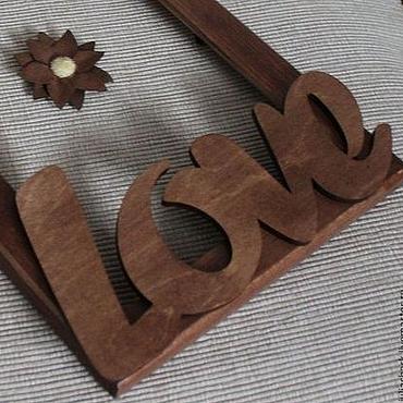 """Сувениры и подарки ручной работы. Ярмарка Мастеров - ручная работа Рамка для фотографий """"просто LOVE"""". Handmade."""