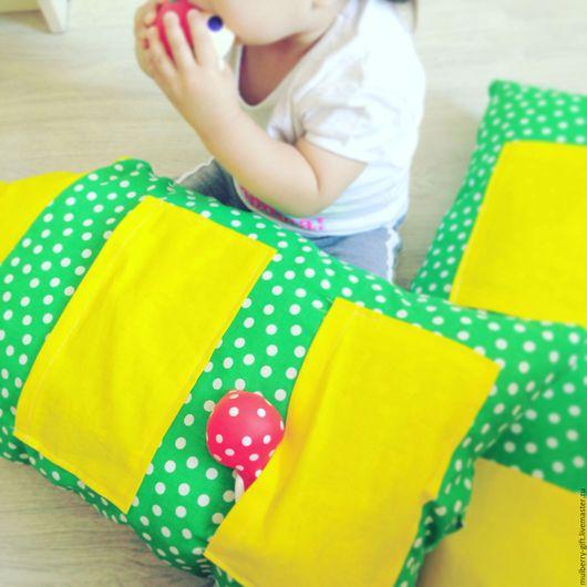 Текстиль, ковры ручной работы. Ярмарка Мастеров - ручная работа. Купить Подушки домики. Handmade. Комбинированный, развивающая игрушка, домик