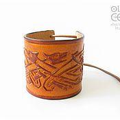 Украшения ручной работы. Ярмарка Мастеров - ручная работа Кельтский браслет-оберег из кожи. Handmade.