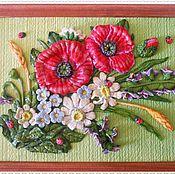"""Картины и панно ручной работы. Ярмарка Мастеров - ручная работа """"Полевые цветы"""". Handmade."""