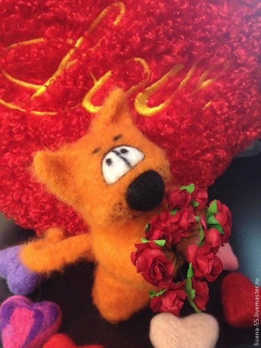 Игрушки животные, ручной работы. Ярмарка Мастеров - ручная работа. Купить Романтичный КОт Апельсин. Handmade. Кот, цветы, оранжевый