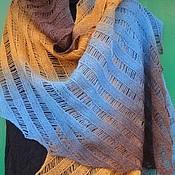 Аксессуары handmade. Livemaster - original item Delicate tippet Heaven and earth knit with needles. Handmade.