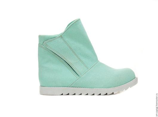 Обувь ручной работы. Ярмарка Мастеров - ручная работа. Купить Летние ботинки 8-215 (СБ). Handmade. женская обувь