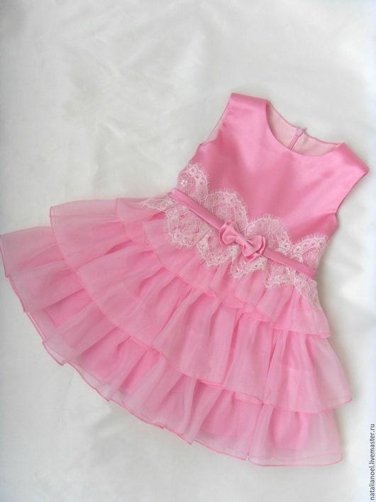 Одежда для девочек, ручной работы. Ярмарка Мастеров - ручная работа. Купить Нарядное платье. Handmade. Розовый, Розовое платье