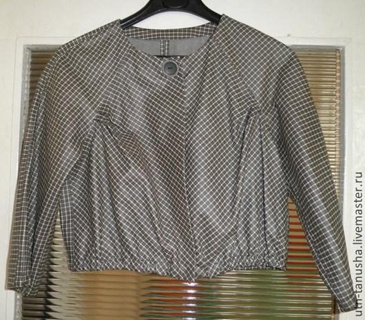 Верхняя одежда ручной работы. Ярмарка Мастеров - ручная работа. Купить Женская куртка из натуральной двухсторонней кожи. Handmade. Серый