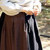 Русский стиль handmade. Livemaster - original item A poneva everyday skirt of wool tweed. Handmade.