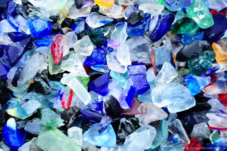 Glass pebbles galtovannaya MI1 for decoration pebbles for aquarium, Materials, Azov, Фото №1