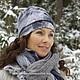 Шапки ручной работы. Ярмарка Мастеров - ручная работа. Купить Валянная шапка Зимний рассвет. Handmade. Серый, розовый, Валяние