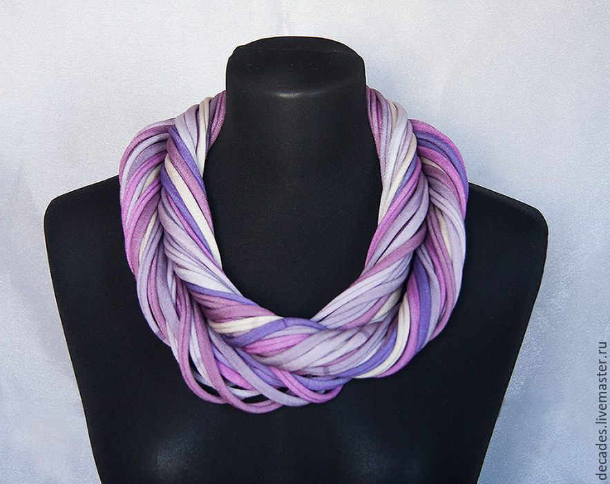 Liliac scarf and necklace, Necklace, Moscow,  Фото №1