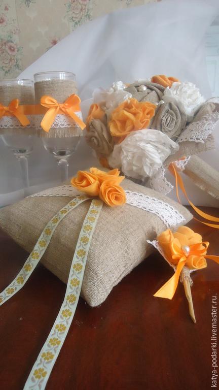 Свадебные цветы ручной работы. Ярмарка Мастеров - ручная работа. Купить Букет невесты в стиле Рустик. Handmade. Бежевый