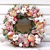 Подарки к праздникам ручной работы. Ярмарка Мастеров - ручная работа Розовый венок. Handmade.