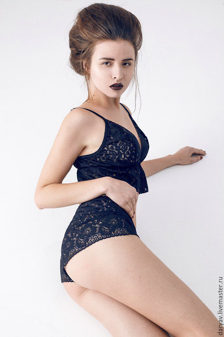 Lace set top and shorts, Home costumes, St. Petersburg,  Фото №1