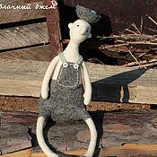 Куклы и игрушки handmade. Livemaster - original item The emergence of the idea. Felt doll (brown turquoise Easter egg). Handmade.