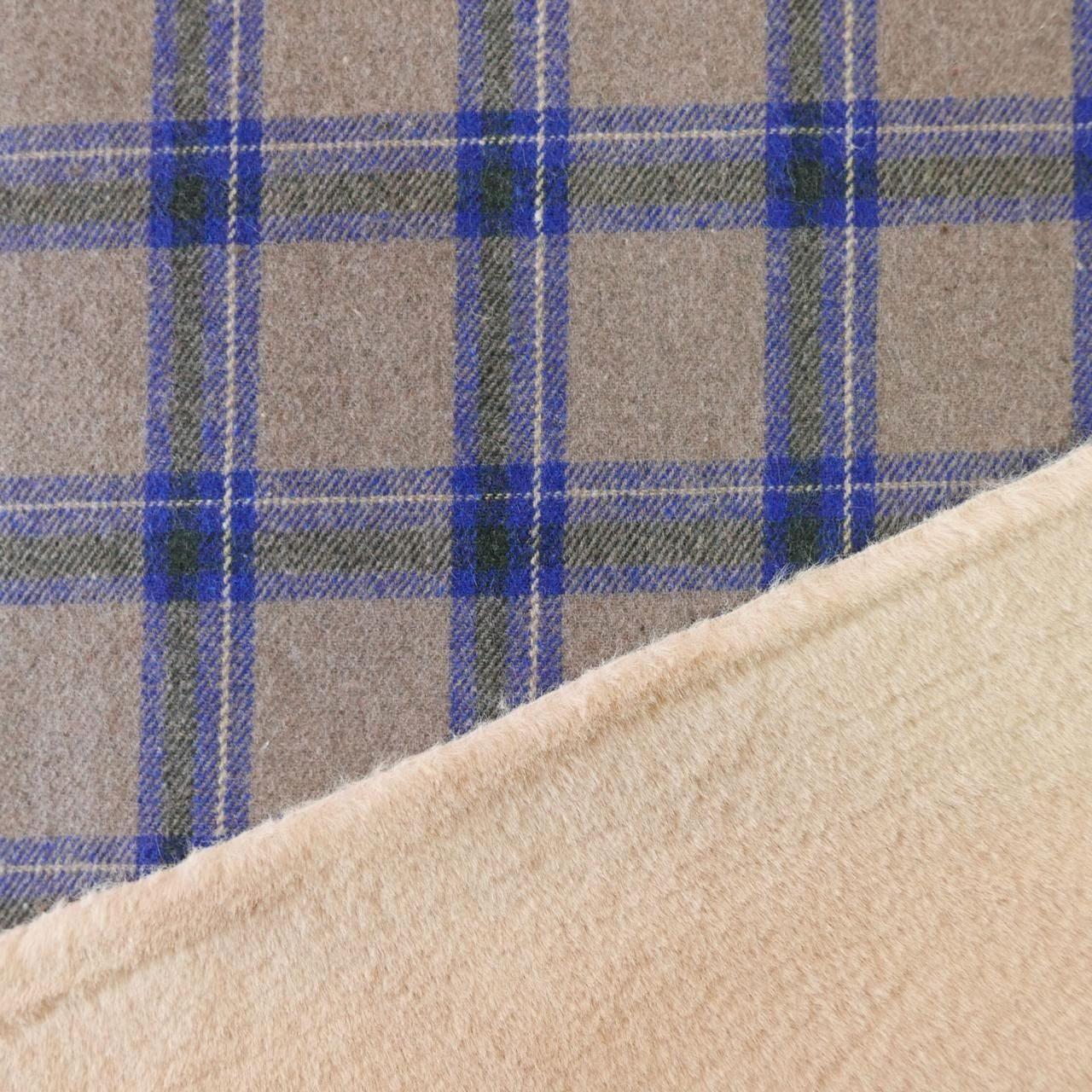 Двухсторонняя пальтовая ткань с мехом, Ткани, Москва,  Фото №1