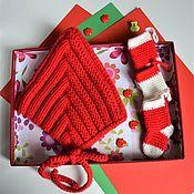 Шапки ручной работы. Ярмарка Мастеров - ручная работа Шапочка эльф для новорожденного, шапочка гномик, красный колпачок. Handmade.