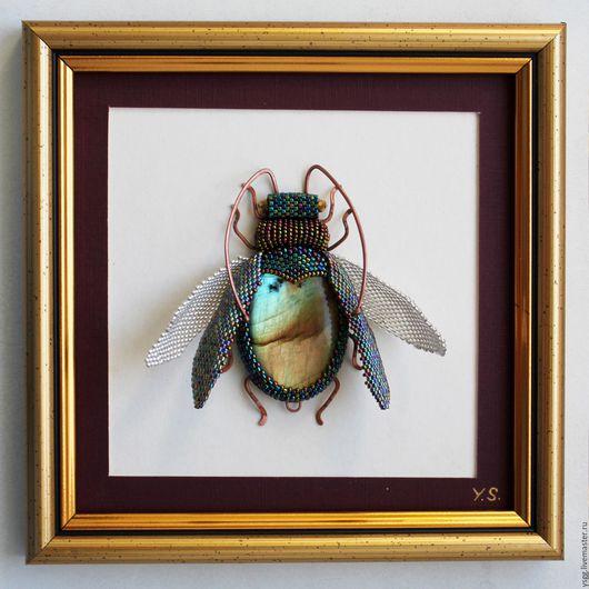 """Животные ручной работы. Ярмарка Мастеров - ручная работа. Купить Панно """"Жук"""". Handmade. Панно жук, панно жук в подарок"""