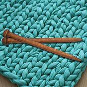 handmade. Livemaster - original item Giant knitting needle for Thick Yarn made of Wood 25mm/400#12. Handmade.