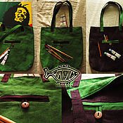 Сумки и аксессуары ручной работы. Ярмарка Мастеров - ручная работа Сумка из льна. Handmade.