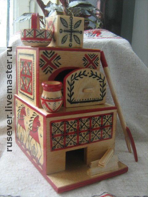 Souvenirs handmade. Livemaster - handmade. Buy Game oven Mezen.Oven, russian souvenir, tree