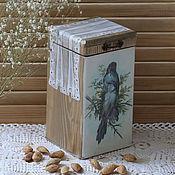 """Для дома и интерьера ручной работы. Ярмарка Мастеров - ручная работа Короб для кухни """"Птицы"""". Handmade."""