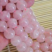 Бусины ручной работы. Ярмарка Мастеров - ручная работа Розовый Кварц, бусины натуральный камень, Мадагаскар, 12 мм. Handmade.