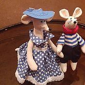 Тильда Зверята ручной работы. Ярмарка Мастеров - ручная работа Мышки текстильные. Handmade.