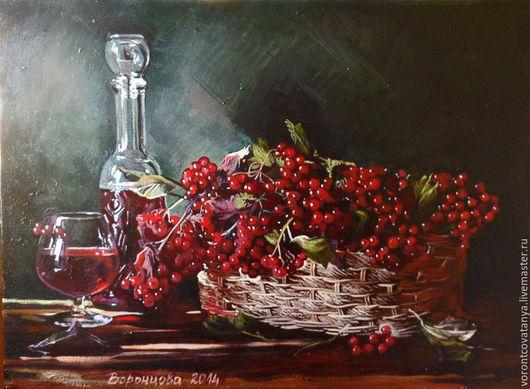 """Натюрморт ручной работы. Ярмарка Мастеров - ручная работа. Купить """"Калина красная"""". Handmade. Комбинированный, натюрморт, картина, картина в подарок"""