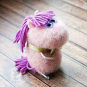 Куклы и игрушки ручной работы. Ярмарка Мастеров - ручная работа Лошадка войлочная - игрушка лошадка - зефирная лошадка Анжелина. Handmade.
