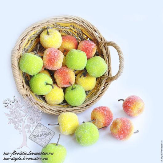 Материалы для флористики ручной работы. Ярмарка Мастеров - ручная работа. Купить ЕСТЬ Яблочки сахарные (3,5 см.). Handmade.