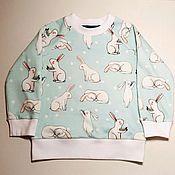 """Одежда ручной работы. Ярмарка Мастеров - ручная работа Свитшот детский """"Белый кролик"""". Handmade."""