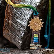 """Украшения ручной работы. Ярмарка Мастеров - ручная работа Подвеска """"Солнечный маяк"""" (бронза, медь, латунь, горячая эмаль, шелк). Handmade."""