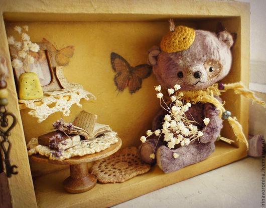 """Мишки Тедди ручной работы. Ярмарка Мастеров - ручная работа. Купить """"Где живут мишки?...""""  мишка тедди, румбокс.. Handmade."""
