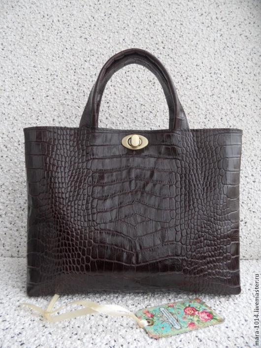 Женские сумки ручной работы. Ярмарка Мастеров - ручная работа. Купить CARLA шоколад, реплика. Handmade. Коричневый, коричневая сумка