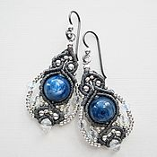 Украшения handmade. Livemaster - original item Kyanite earrings kyanite from kyanite hypoallergenic boho earrings kyanite. Handmade.