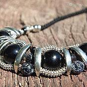 """Украшения handmade. Livemaster - original item """"Комплимент"""" крупное украшение на шнурах из натуральных камней. Handmade."""