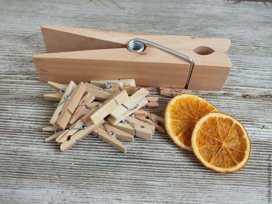 Другие виды рукоделия ручной работы. Ярмарка Мастеров - ручная работа. Купить Прищепки деревянные (различные варианты). Handmade. Бежевый