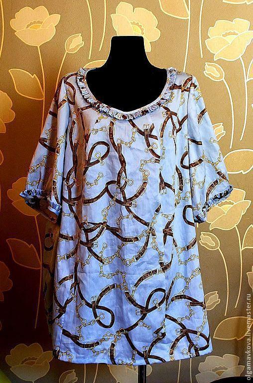Большие размеры ручной работы. Ярмарка Мастеров - ручная работа. Купить Блузка, размер 68-70. Handmade. Блузка летняя